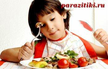 диета при аскаридах