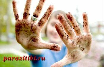 грязные руки причина аскаридоза
