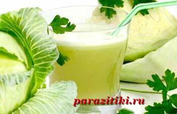 капустный сок от аскаридоза